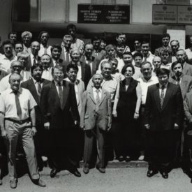 With colleagues from Television and Radio Corporation, Almaty,1994