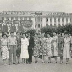 Leila at the Dzhambul Institute in 1981