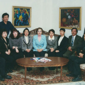 With colleagues fromTan Television Company, 1997
