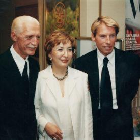 "Couturier Lorenzo Riva, Leila Khrapunova,1 Haute couture ""Fashion Week"", city of Almaty, 1999"