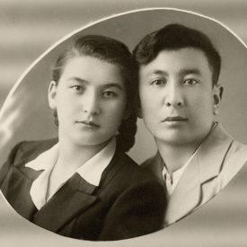 Rasilya and Kalibek Daniyarovs, the city of Tomsk, 1958