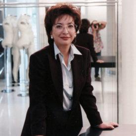 Leila Khrapunova, boutique Gianfranco Ferré, Almaty,1999