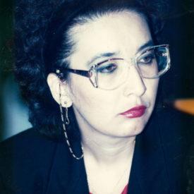 Leila Beketova, Executive Director of TAN TV Company, Almaty 1991