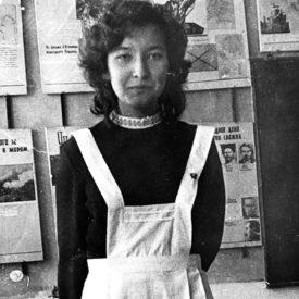 School student, aged 15, the city of Jambul (Taraz) ,1974